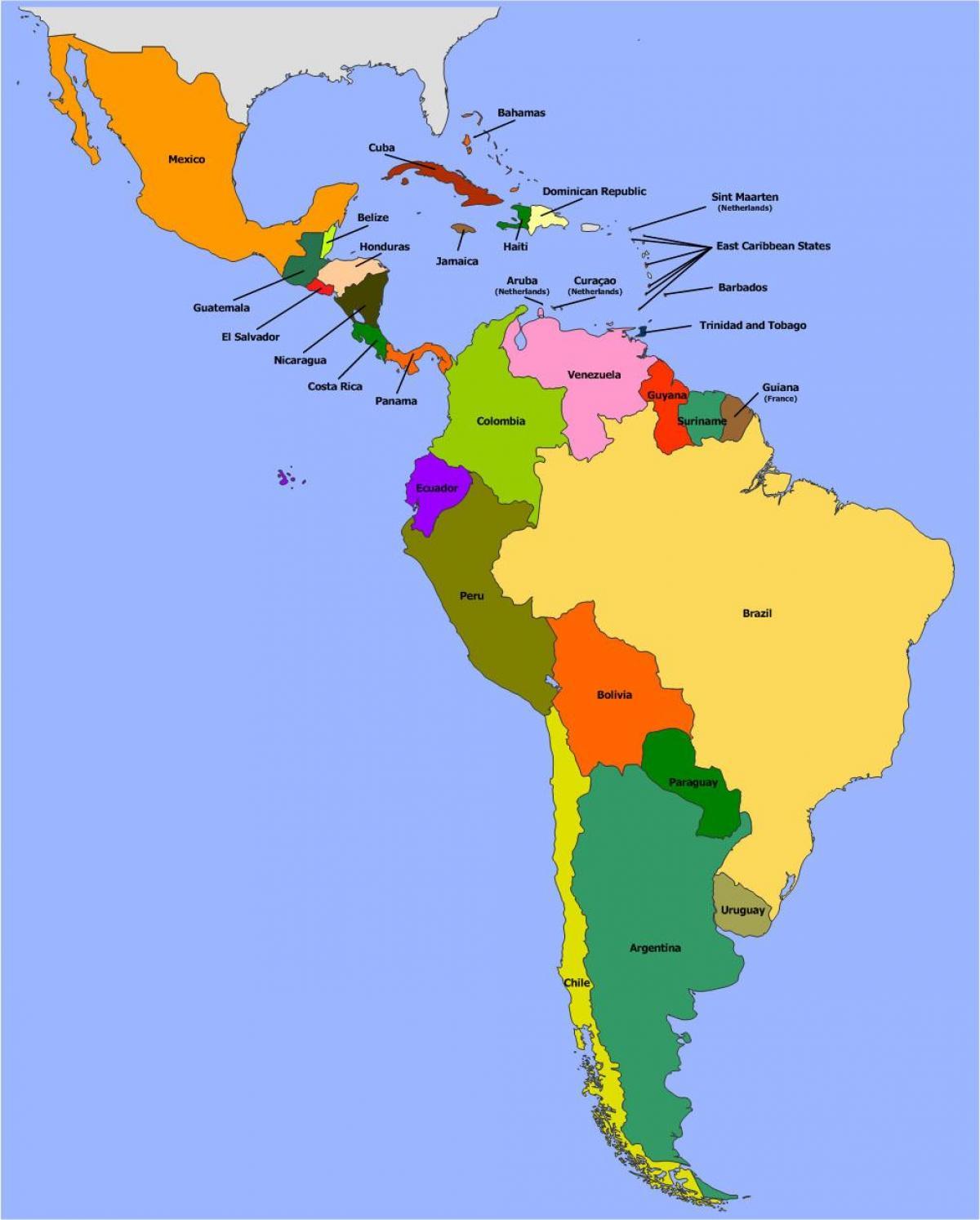 Belize Juzna Amerika Karta Belize Juzna Amerika Srednja Amerika