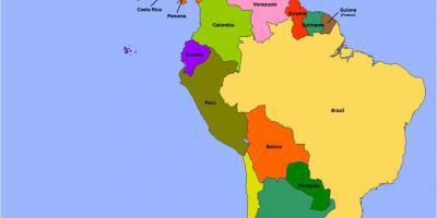 Belize Kartica Kartica Belize Srednja Amerika Juzna Amerika